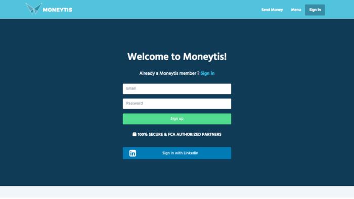 Moneytis Signup