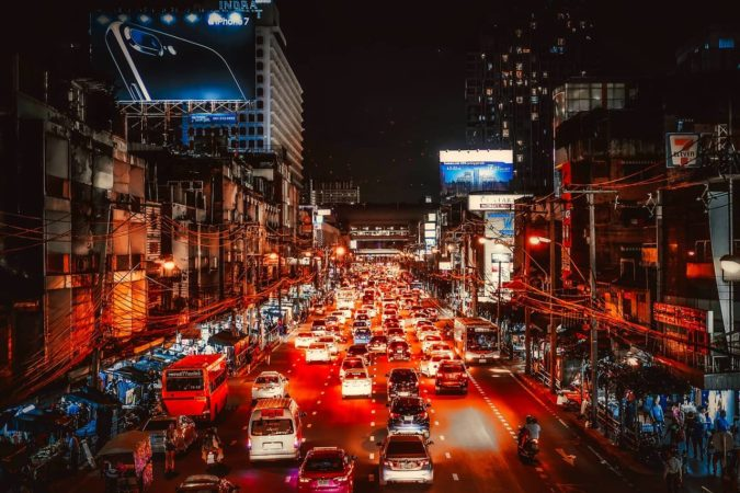 bangkok rush hour at night