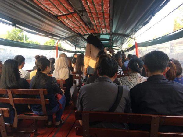 inside Khlong Saen Seab Express Boats