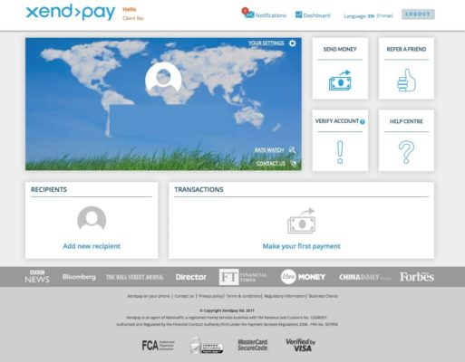 XendPay Dashboard