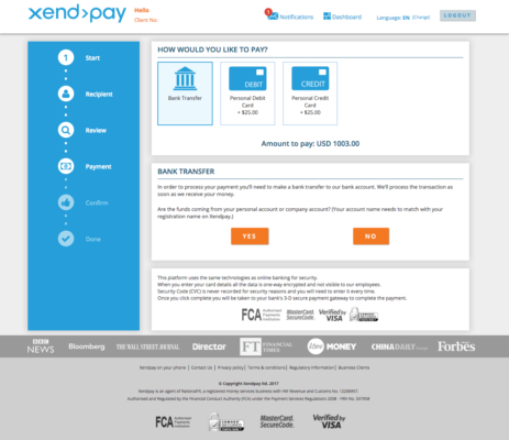 XendPay Transfer