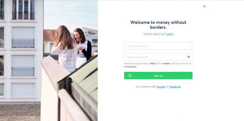 TransferWise Signup