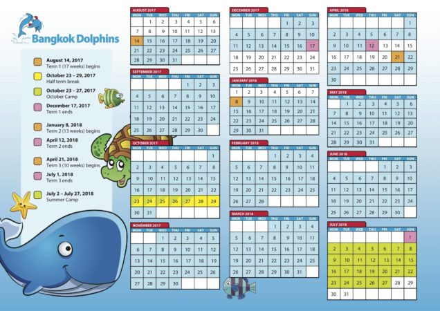 Bangkok Dolphins swimming class schedule