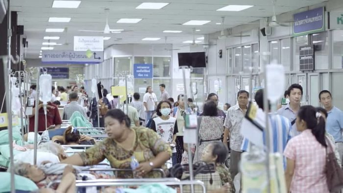 IPD Room inside Siriraj Hospital, one of the best and most crowded hospitals in Thailand