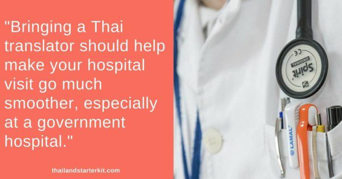 bring a thai translator to hospital