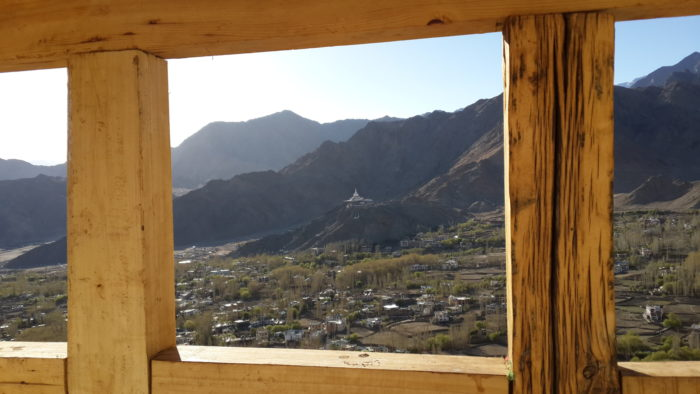 A view of a stupa in Leh, India.