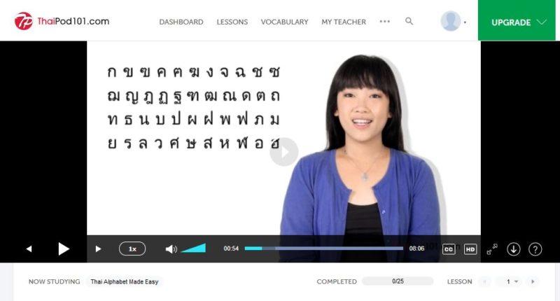 learn aphabett with Thaipod101