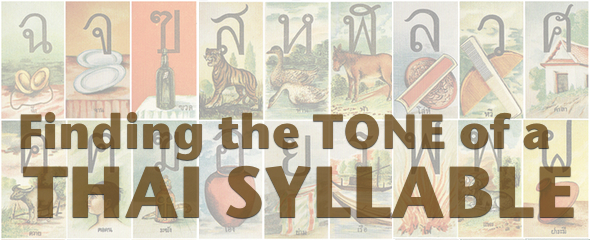 Finding the Tone of a Thai Syllable