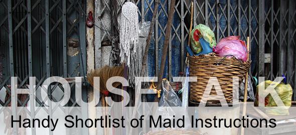 HouseTalk: Learn Basic Thai Cleaning Instructions
