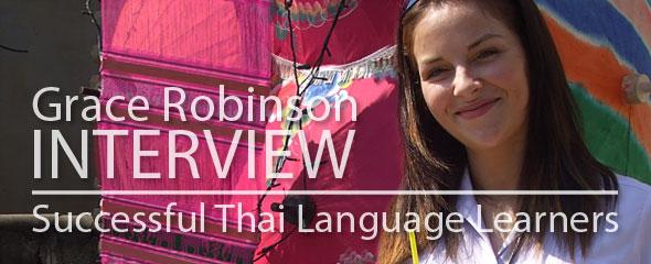 Successful Thai Language Learner: Grace Robinson