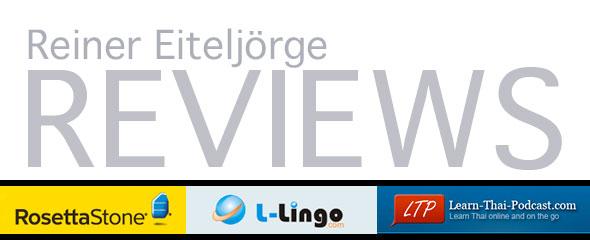Learning Thai: L-Lingo, Learn Thai Podcast, and Rosetta Stone