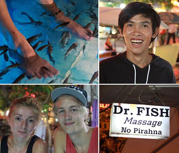 Siem Reap: 2012: Fish massage
