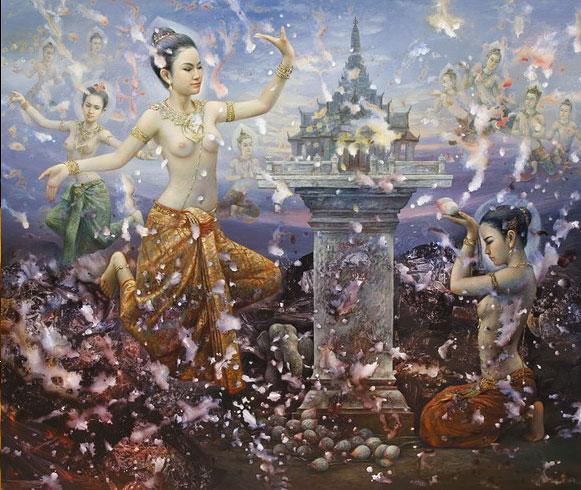 Nang Songkran by Thai Artist Sompop Budtarad
