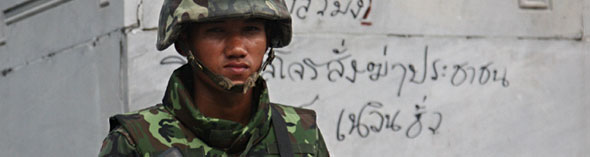 Songkran soldier