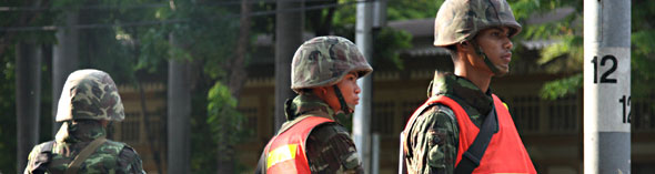 Songkran soldiers