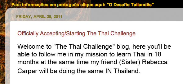 The Thai Challenge PLUS The 6 Week Challenge