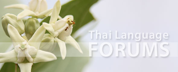 Thai Language Learning Forums
