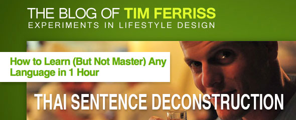 Tim Ferris: Thai Sentence Deconstruction