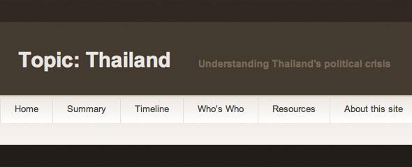 Topic Thailand