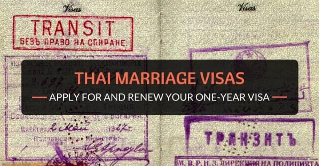 thai marriage visas