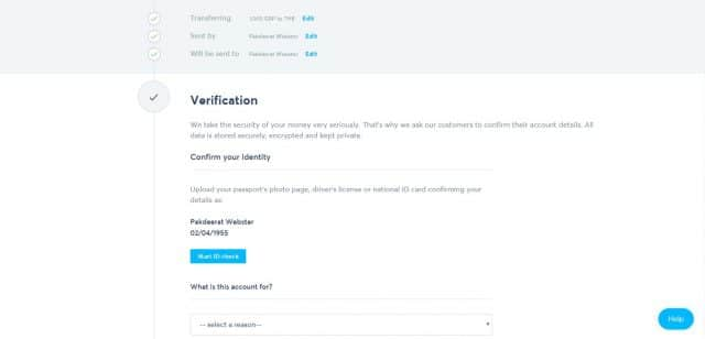 TransferWise Verification