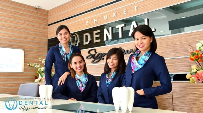 phuket dental signature receptionist team