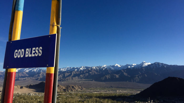 A God bless sign in Ladakh.