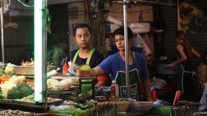 street stall in china town, bangkok