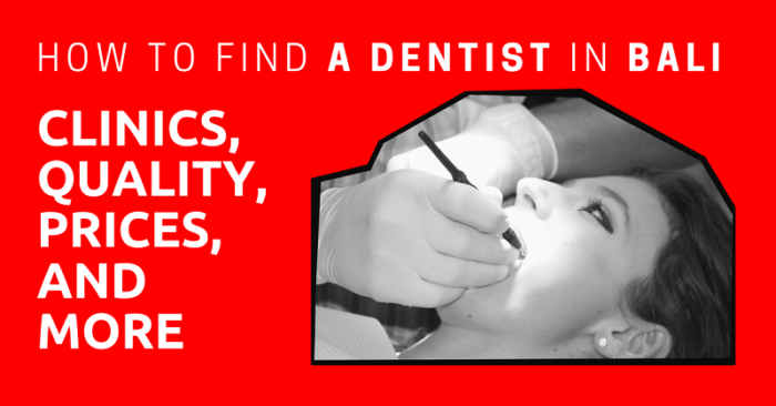 Find a Dentist in Bali