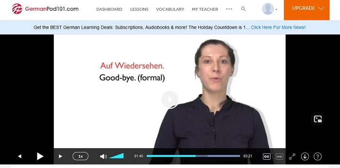 audio and video in Germanpod101