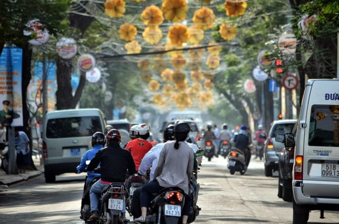 hectic traffic in Vietnam