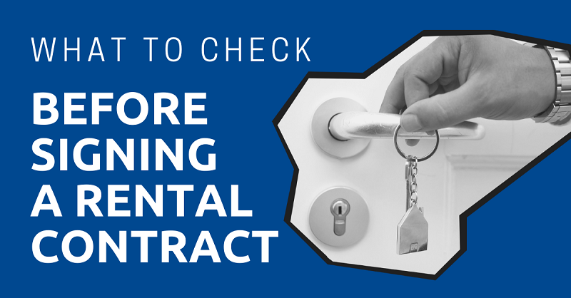 Check Before Signing a Rental Contract